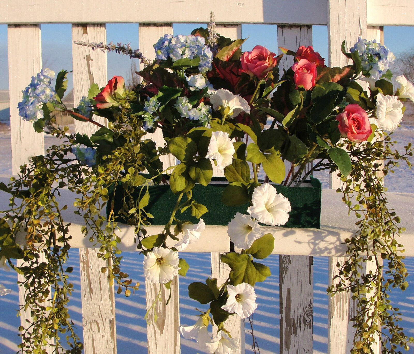 Azaleas en cascada al aire libre caja de la ventana 24  Silk acuerdos Decoración De Jardín De Flores
