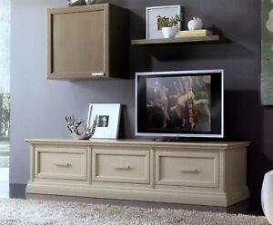 MOBILE BASE PORTA TV PLASMA IN LEGNO LACCATO 3 CASSETTONI x SALA ...