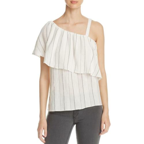 Sanctuary Womens Felicity Striped Popover One Shoulder Casual Top BHFO 3669