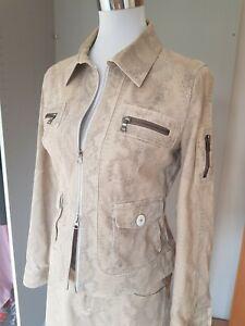 meet fdbb6 477ad Details zu Damen Frühjahr Mode, Jacke + Hose, Trend Animal Print, beige,  Designer, 38