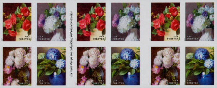 2017 49c Flowers from the Garden, Booklet of 20 Scott 5