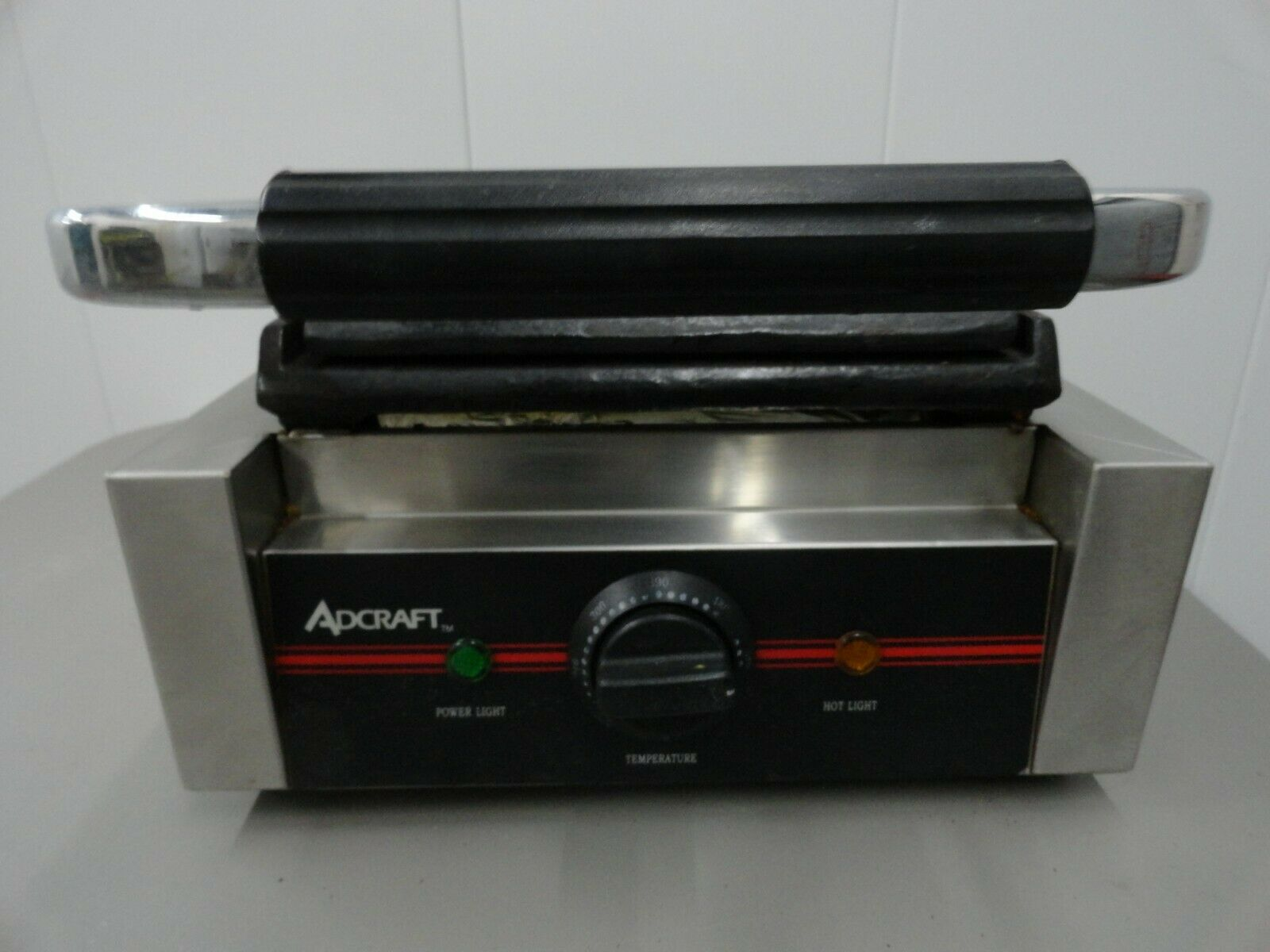 AdCraft Acier Inoxydable Plaque Plane Panini Sandwich Grill SG-811F
