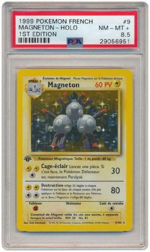 Magneton - 9 102 - PSA NM-MT + 8.5 - Holo 1st Edition French Pokemon Card RK6