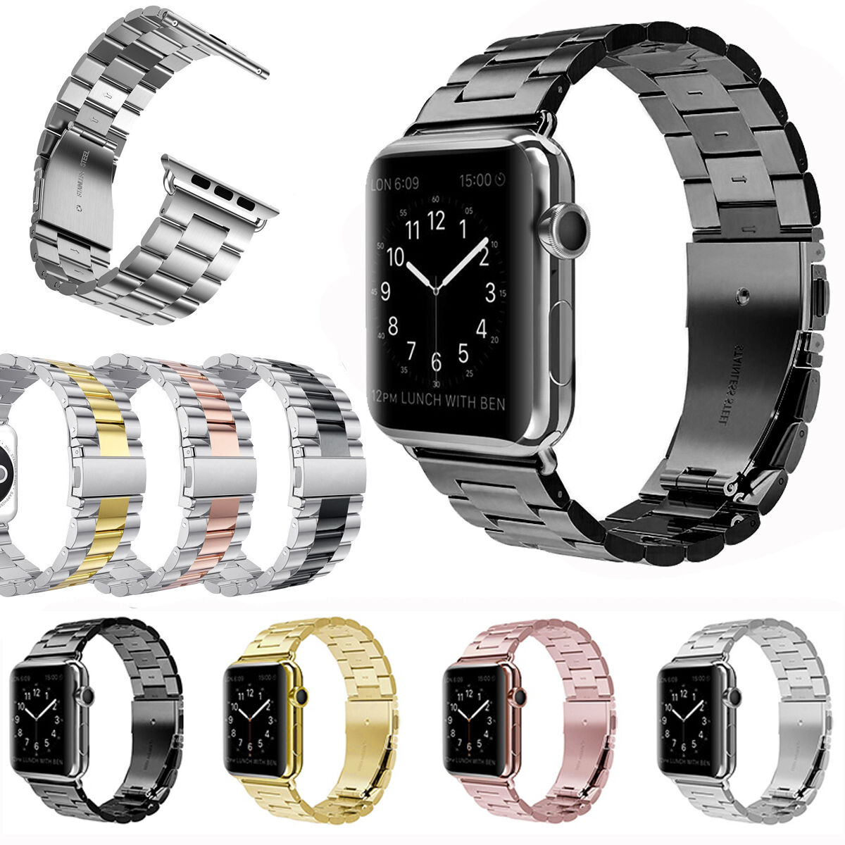 For Apple Watch Band iWatch 38mm/42mm Stainless Steel ...