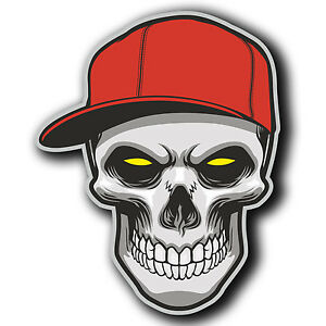 a9b8111d348 2 x Glossy Vinyl Stickers - Skull Cap Snapback Hat Cool iPad Laptop ...