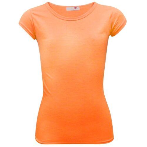 Girls Plain Gym /& Dance Top Kids Short Sleeve Tee T Shirt New Age 2-13 Years