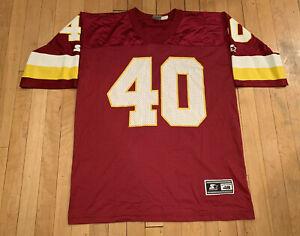 Washington-Redskins-Vintage-90-s-Reggie-Brooks-Starter-Jersey-EUC-48-Large