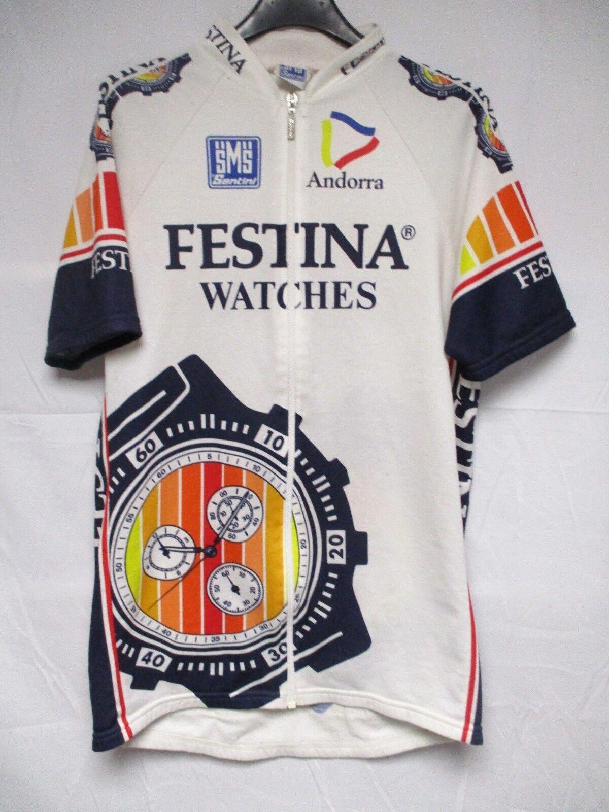 Maillot FESTINA Tour de France 1993 Virenque maglia shirt ANDORRA camiseta XXL