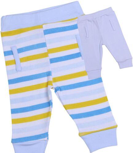 BabyPrem Baby Jungen Kleider 2 Packung Weiche Baumwollhose Leggings 0-6