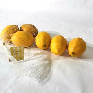 Pottery Barn Faux Lemons 6 Count Realistic Fake Fruit Ebay
