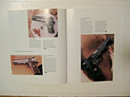 NOS VINTAGE 1987 COLT FIREARMS GUN CATALOG  ~ SEE ALL OUR GUN SHOOTING CATALOGS