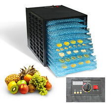 10 Tray Commercial Food Dryer Dehydrator Jerky Fruit Adjustable Thermolator 600W