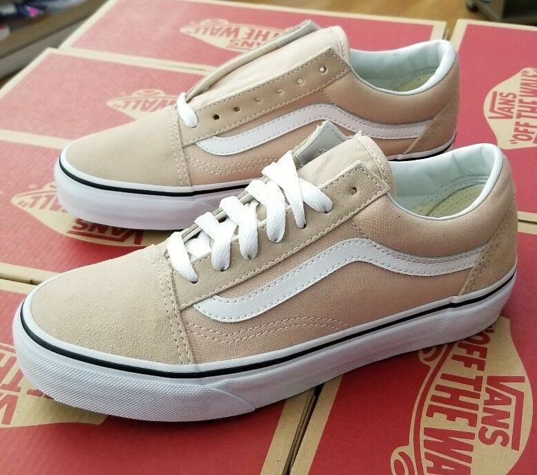 VANS OLD SKOOL VN0A38G1Q9X FRAPPE TRUE WHITE MEN SZ 4 (WOMEN 5.5)