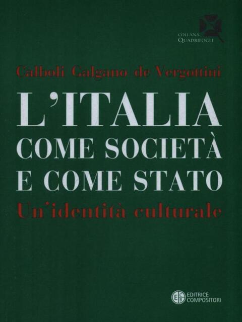 L'ITALIA COME SOCIETA' E COME STATO. UN'IDENTITA' CULTURALE  AA.VV. COMPOSITORI