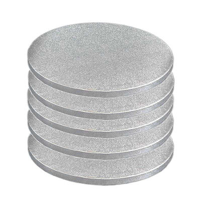 Round Silver Cake Drum 6 inch Dia 12mm Thick Pack of 1