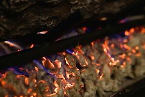 Glowing Ember Rock Wool For Gas Log 6 Oz Bag Fireplace Set