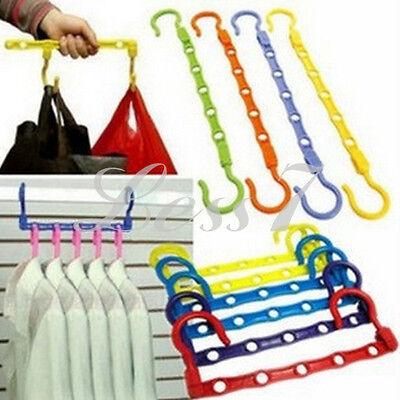 Organizer Space Saver Wonder Magic 5 Hook Holder Hanger Closet Wardrobe CA