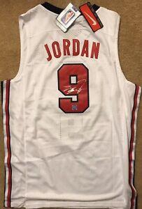 c4dbcf9415de Image is loading Michael-Jordan-signed-Olympic-Jersey-Dream-Team-COA-