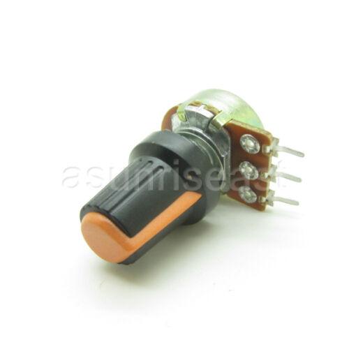 Orange Black Knob Cap 10 X 10K Ohm Linear Taper Potentiometer B10K Panel Pot