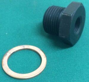 Oil-Water-Pressure-Temp-Sensor-Adapter-M18x1-5-1-8-NPT-NEW-BLACK