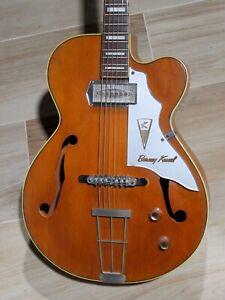 1959 Kay Barney Kessel K6701b Artist Un Très Rare 1 Pickup Modèle Jazz Box!-afficher Le Titre D'origine