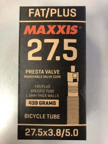 Maxxis Presta Valve Fat//plus Bike Tube Removable Core 27.5 X 3.8-5.0