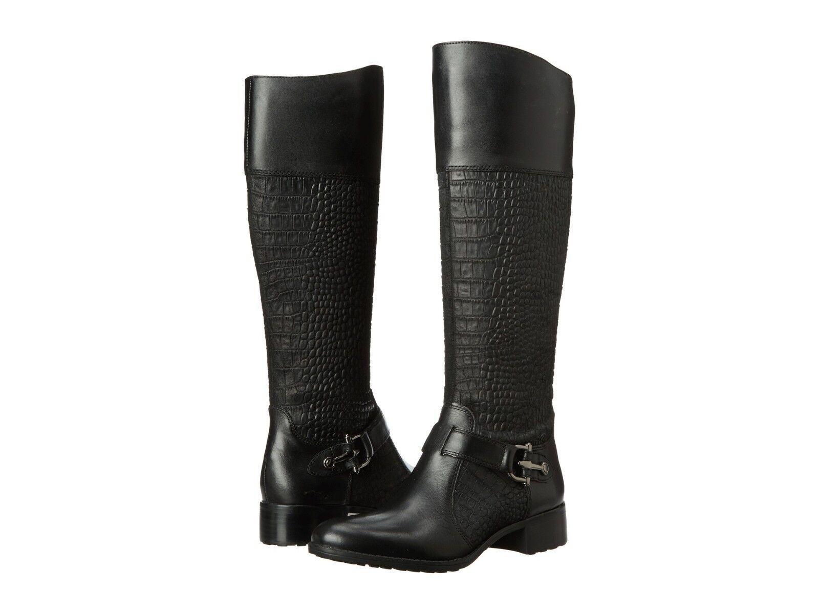 Circa Joan & David Womens Takara Black Pull On Zipper Knee-High Fashion Boots