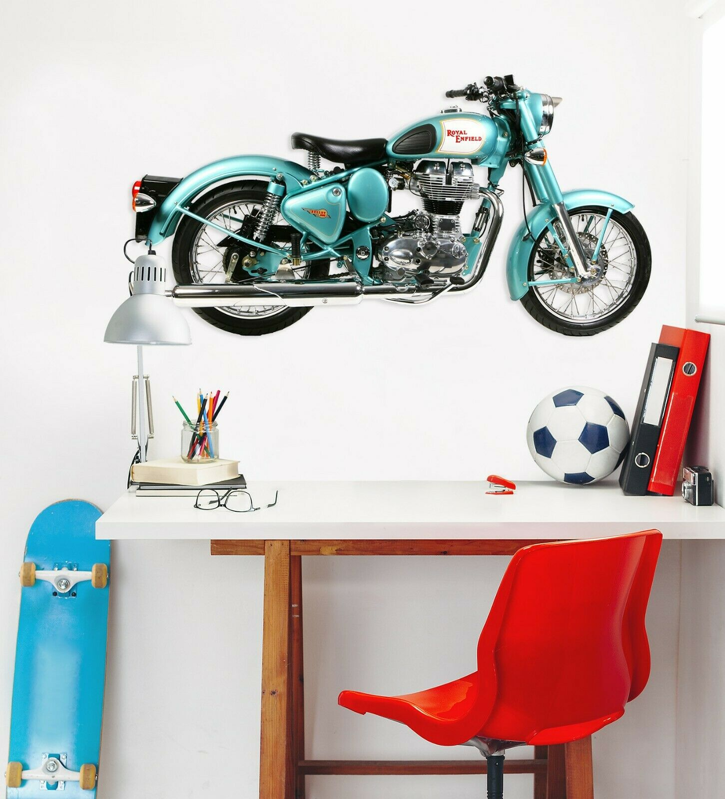 3D Royal Enfield O70 Car Wallpaper Mural Poster Transport Wall Stickers Amy