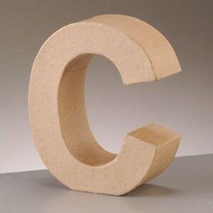 Image Is Loading Cardboard Letter 039 C 3D Paper Mache