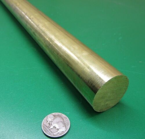"//-.003/"" x 36.0/"" Length 1 Unit 360 Brass Rod 1 3//8/"" Diameter"