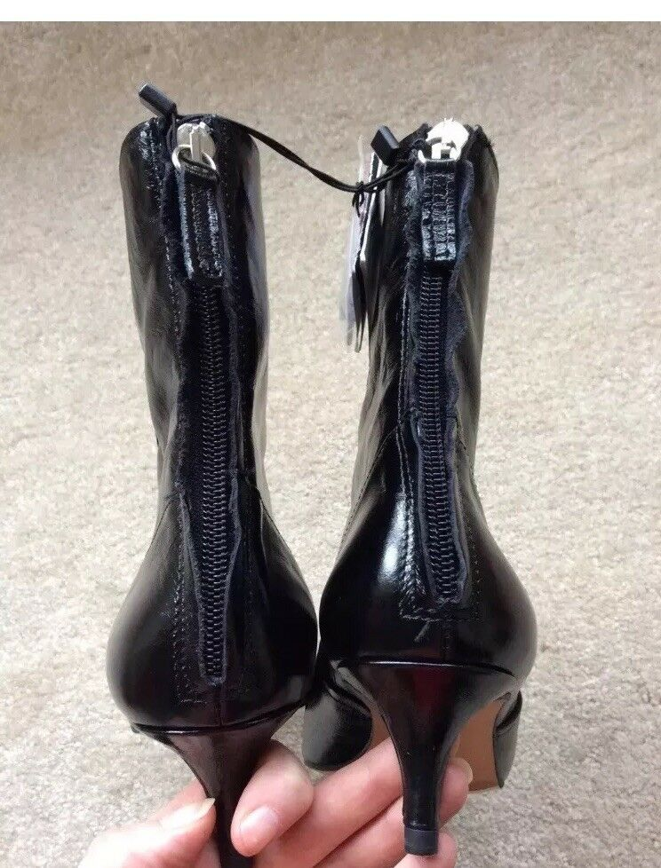 Spiral Patent Leather Boots Size Boots! 6, Fab Spanish Designer Boots! Size Rare! 0e7df4
