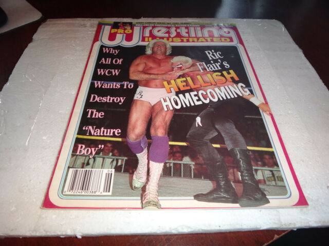 Pro wrestling illustrated magazine june 1993 ric flair vs sting wwe jerry lawler