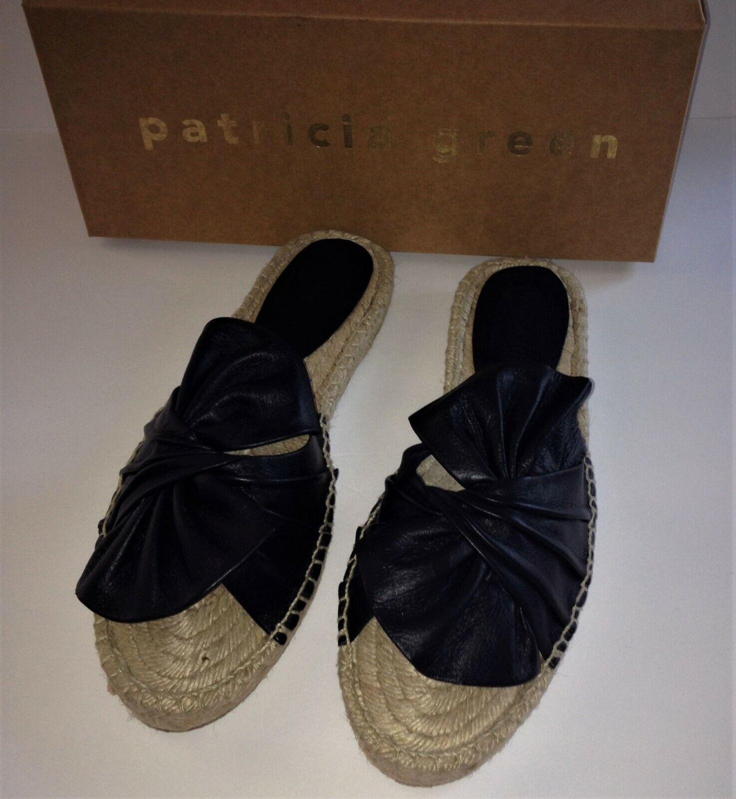 PATRICIA verde  Knot SANDAL 8B nero NEW scarpe SLIDE NIB 38 Neiman Marcus  120  fino al 42% di sconto