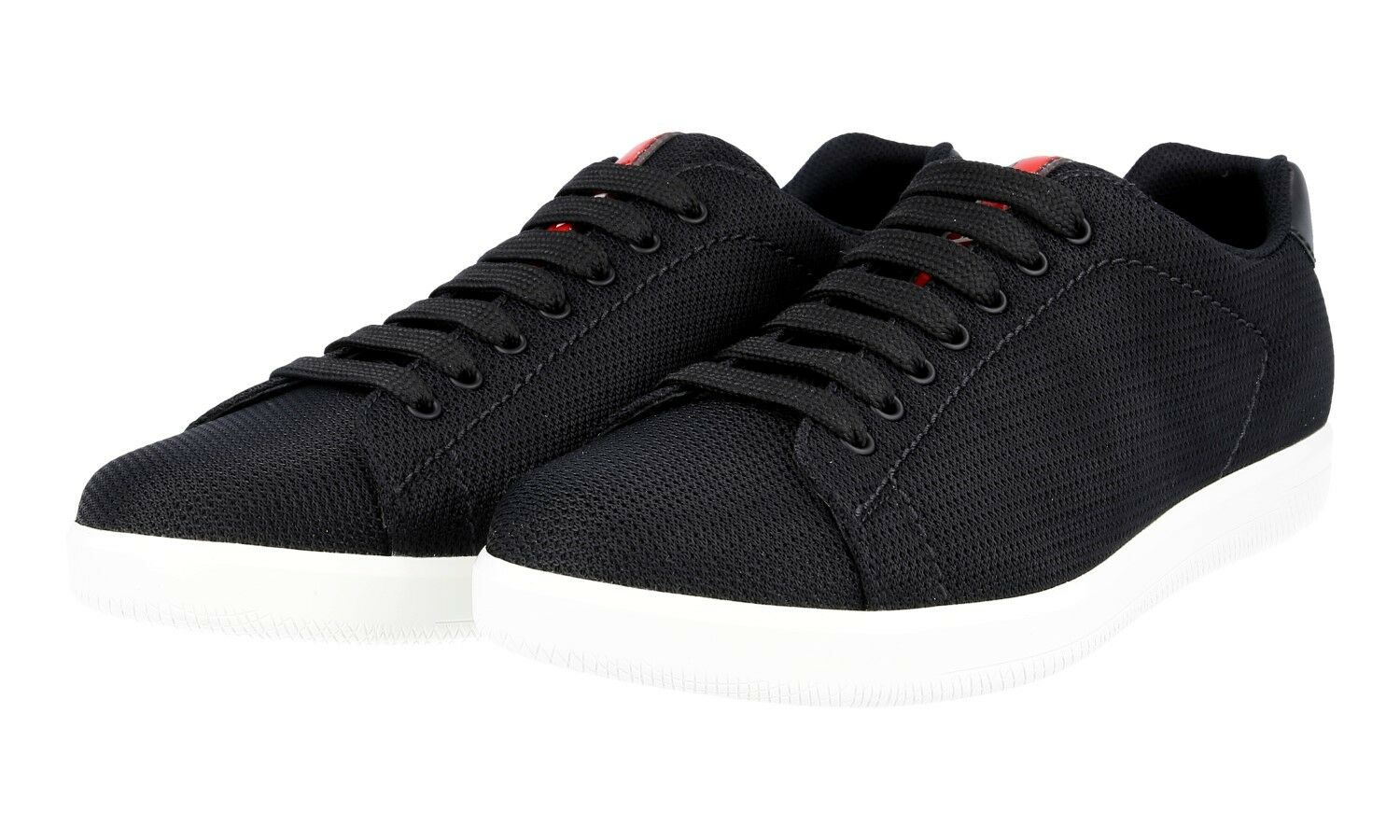 AUTHENTIC LUXURY PRADA scarpe da ginnastica scarpe 4E2988 nero NEW US 10.5 EU 43,5 44