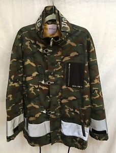 1b2df92a0987f Image is loading Palm-Angels-Camouflage-Fireman-Utility-Jacket-Green-XL