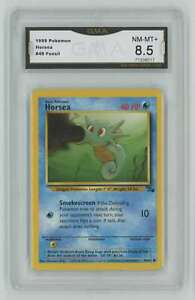 1999 Pokemon Fossil Unlimited #49 Horsea GMA 8.5 Nm-Mt+ A2