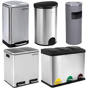 Details About Songmics Waste Bin Dustbin Garbage Rubbish Kitchen Trash Can Stainless Steel