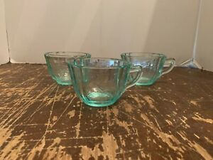 Vintage Indiana Glass Recollection Blue Soup Coffee Cup Set of 3