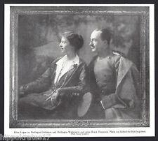 ADEL 1916 Prinz Eugen zu Oettingen Prinzessin Maria zu Hohenlohe-Schillingsfürst
