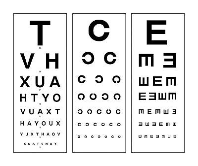 photograph about Printable Eye Chart referred to as Heavy Framed Revolutionary Eye Chart Print (Visualize Poster Snellen Optician Gles) eBay