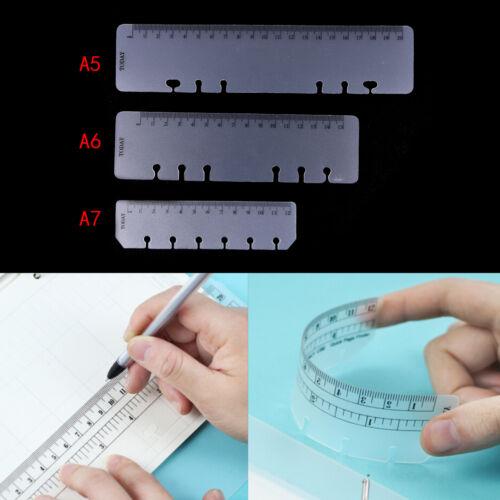 Lineal A5 A6 A7 PVC Planer Agenda für 6 Löcher lose Blatt Spiralen Notebook ^