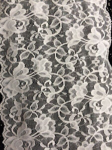 Image Is Loading 50 Cents Yd White Lace