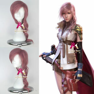 Final-Fantasy-Eclair-Farron-Long-Wavy-Pink-Color-Game-Cosplay-Costume-Full-Wig