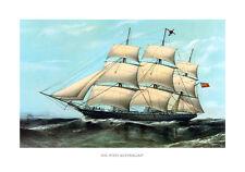 Die West Australien Dreimaster Segelschiff offenes Meer Takelage MaritimA3 175