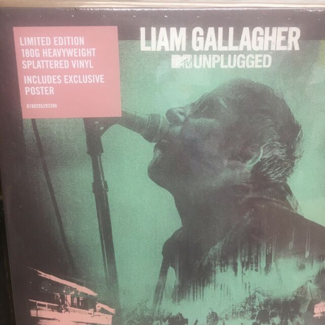 Liam Gallagher : MTV Unplugged (2020) NEW SPLATTER COLOURED VINYL LP + POSTER.
