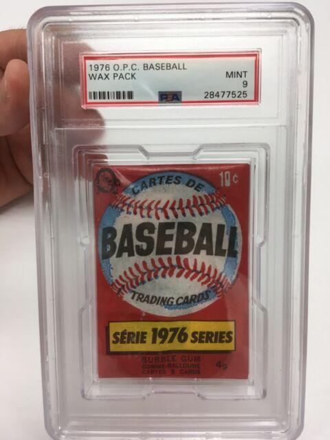 1976 OPC O-Pee-Chee Baseball PSA Graded 9 wax pack (scarce, unopened)