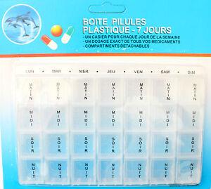 Pilulier-a-Medicament-Semainier-7-Jours-Detachable-TRANSPARENT-Boite-a-Pilule