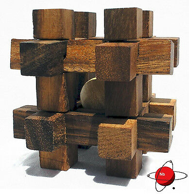Caged Man - Wood Puzzle Brain Teaser NEW Mind Bender Rompecabeza Noggin Buster
