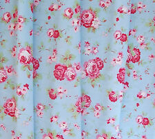 CATH KIDSTON IKEA FLORAL ROSALI FABRIC FAT QUARTER BLUE VINTAGE ROSE FREEPOST