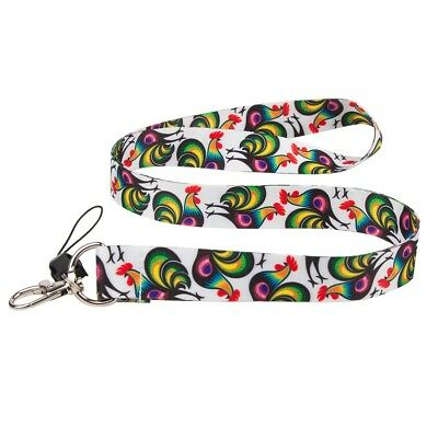 FOLK LANYARD WITH FOLK PATTERNS from Łowicz - roosters